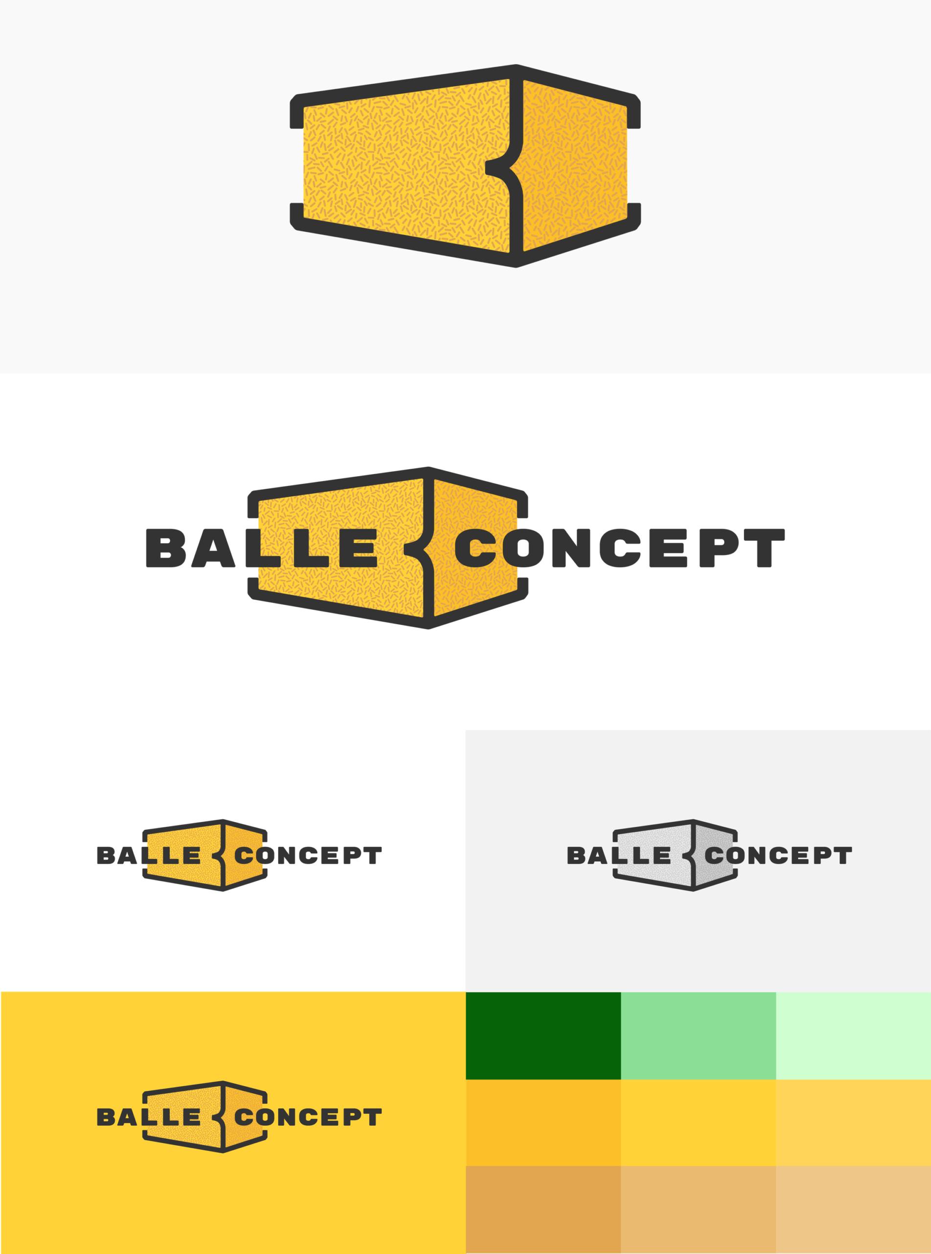 Logo de BalleConcept et gamme de couleur