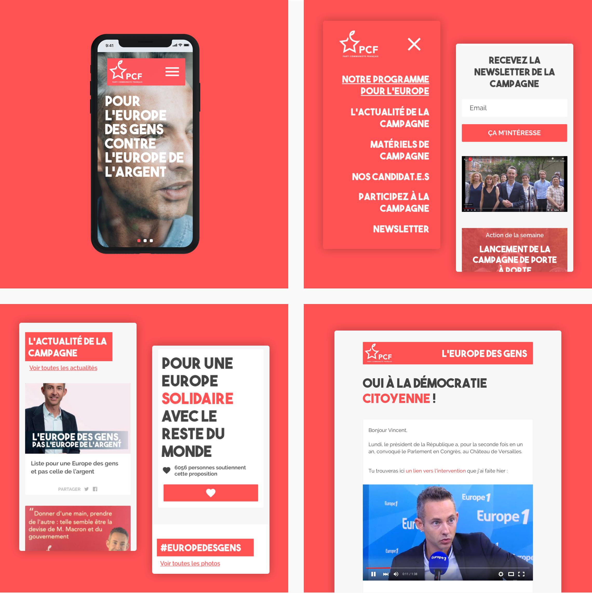 Website de Ian Brossat de la Campagnes des européennes 2019