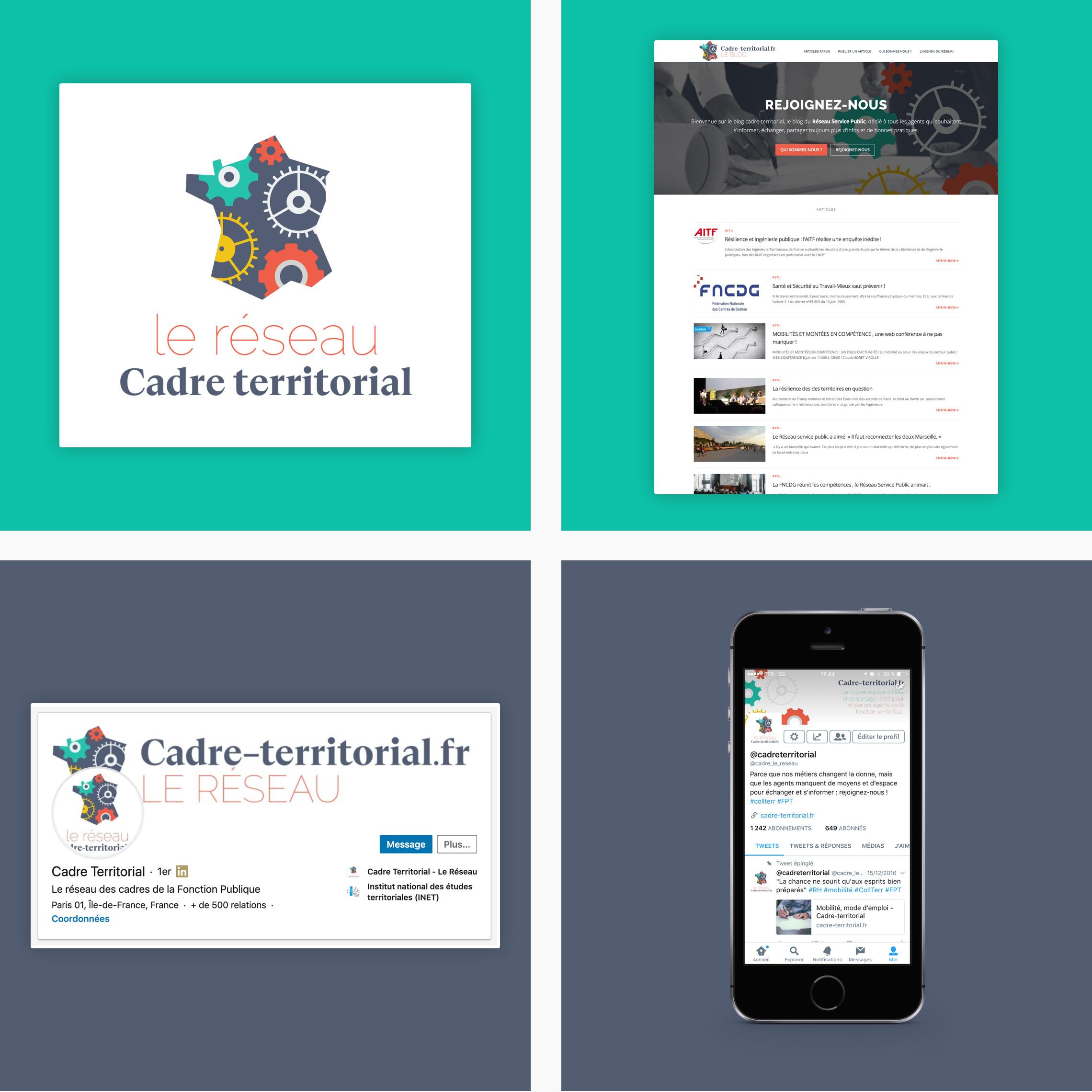 Visuels du réseau Cadre territorial réalisé par Datack