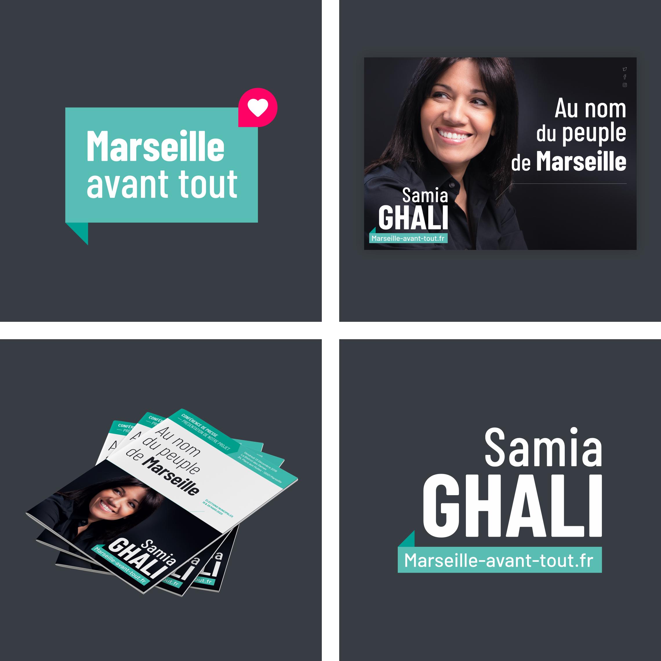 Charte graphique de la campagne municipales 2020 de Samia Ghali