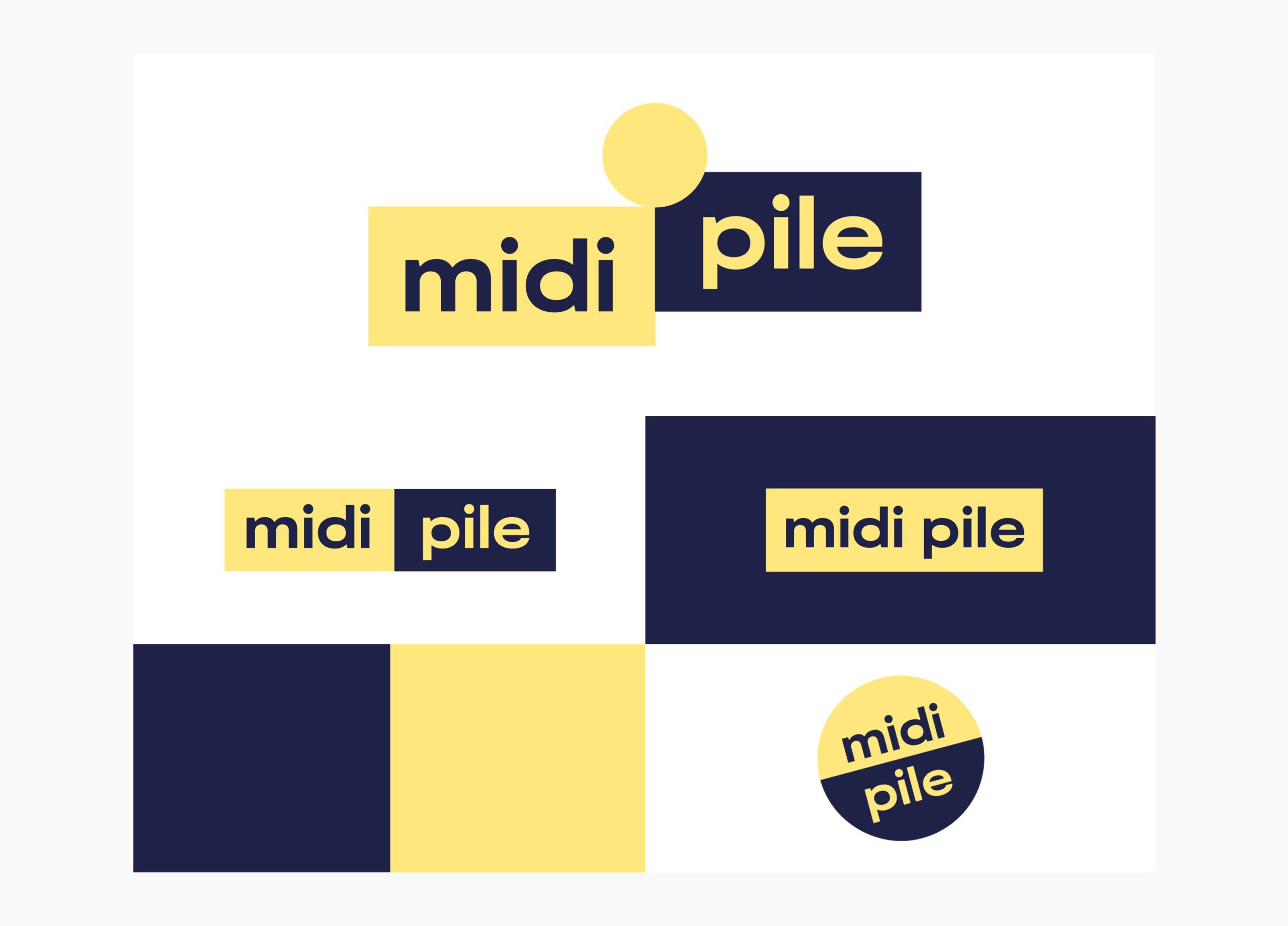 Planche de logo de Midi Pile