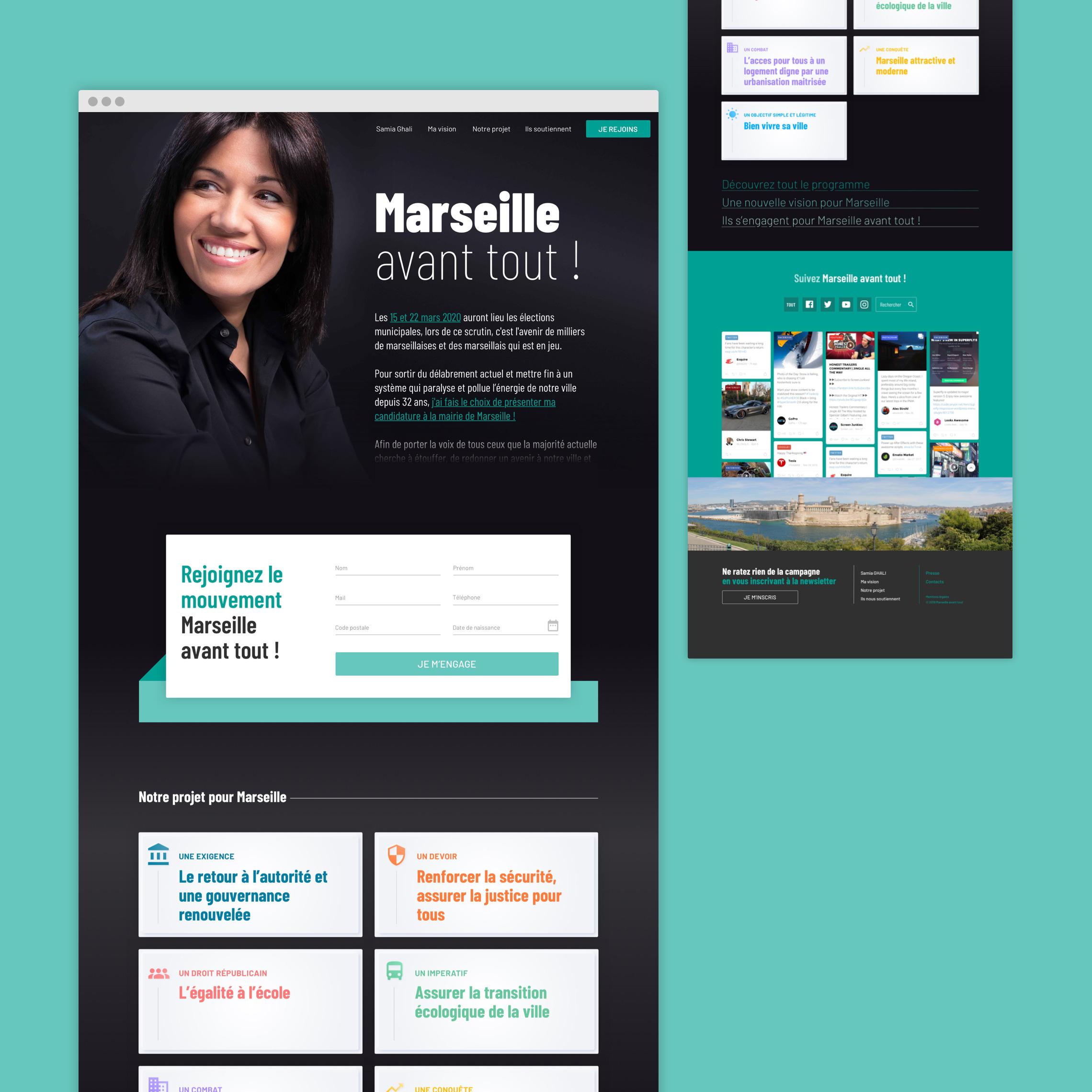 Site internet de Samia Ghali