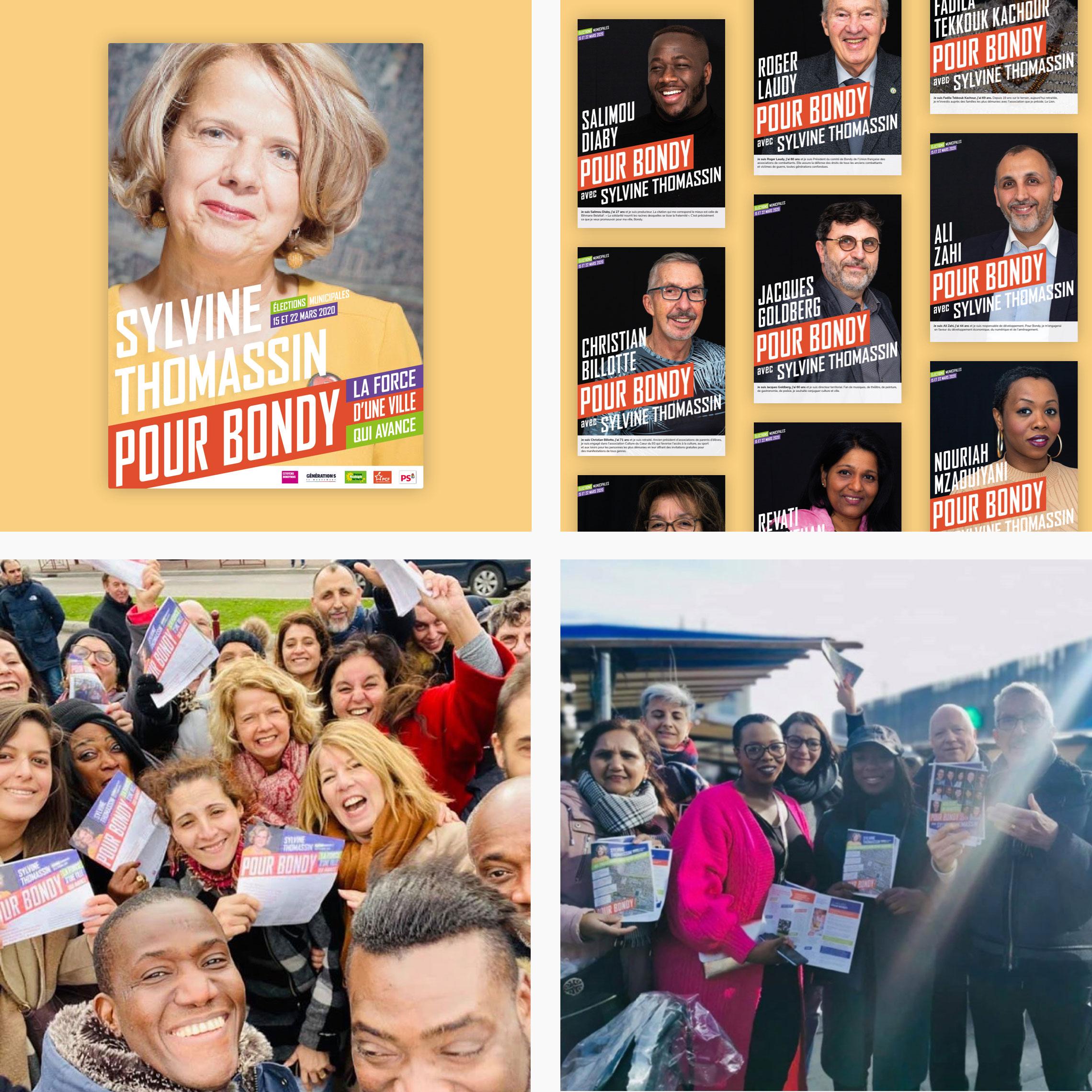 Municipales 2020 à Bondy avec Sylvine Thomassin