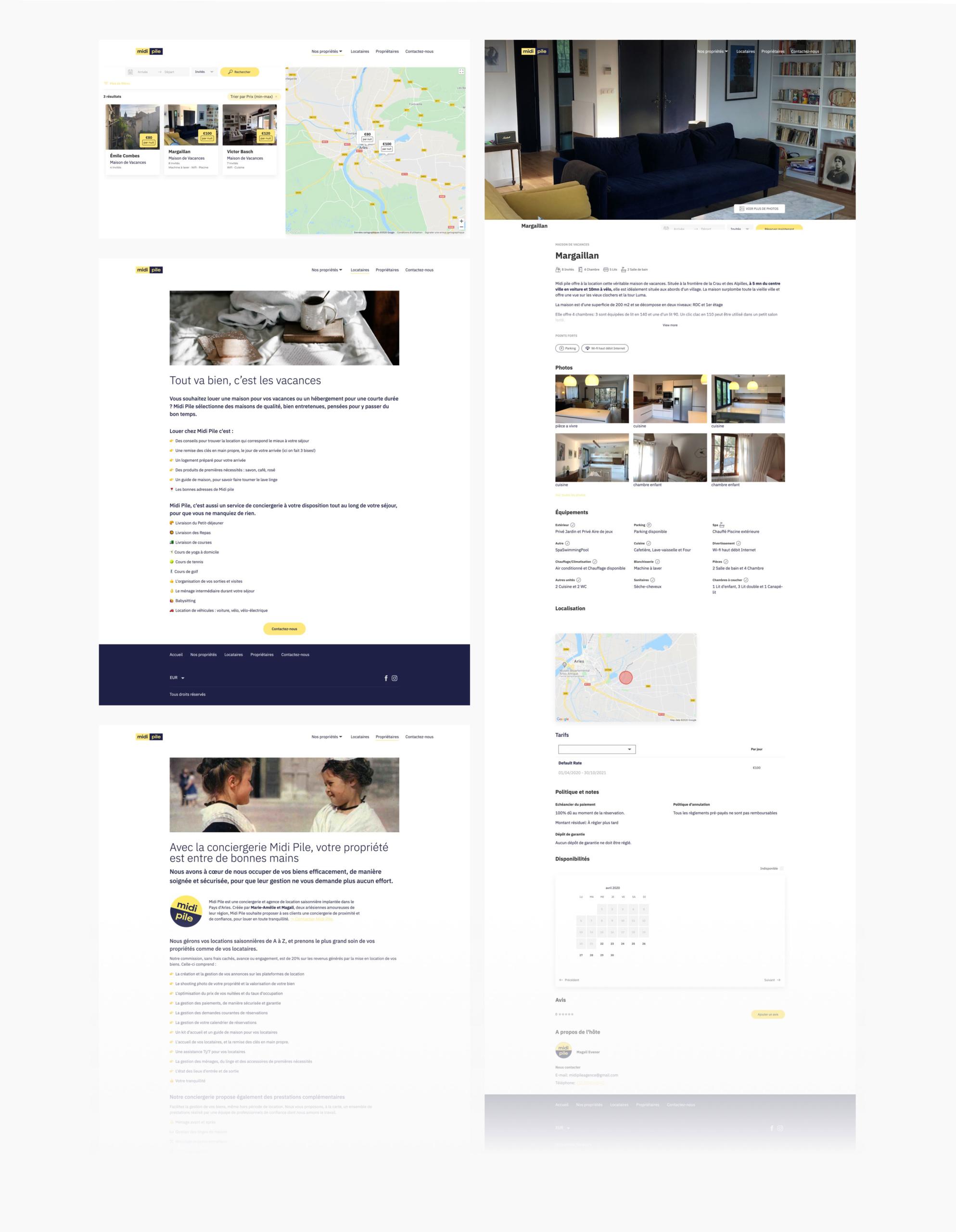 Image des pages intérieures du site web