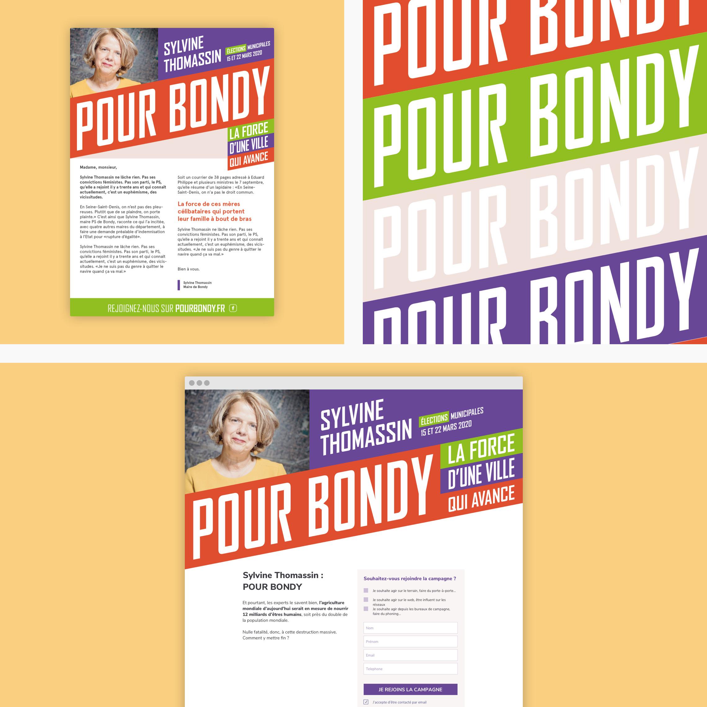 Identité visuelle de la campagne de Bondy
