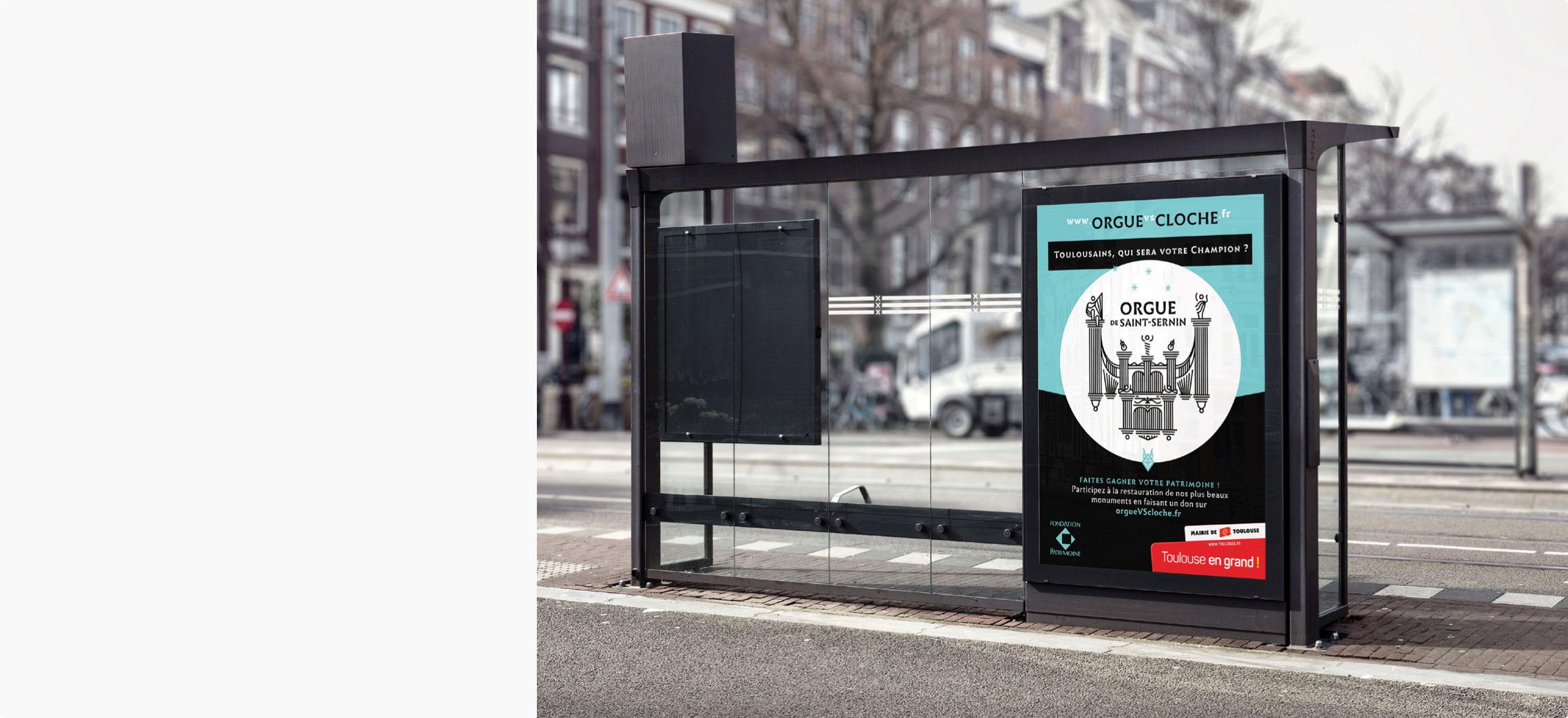 Campagne d'affichage sur abribus